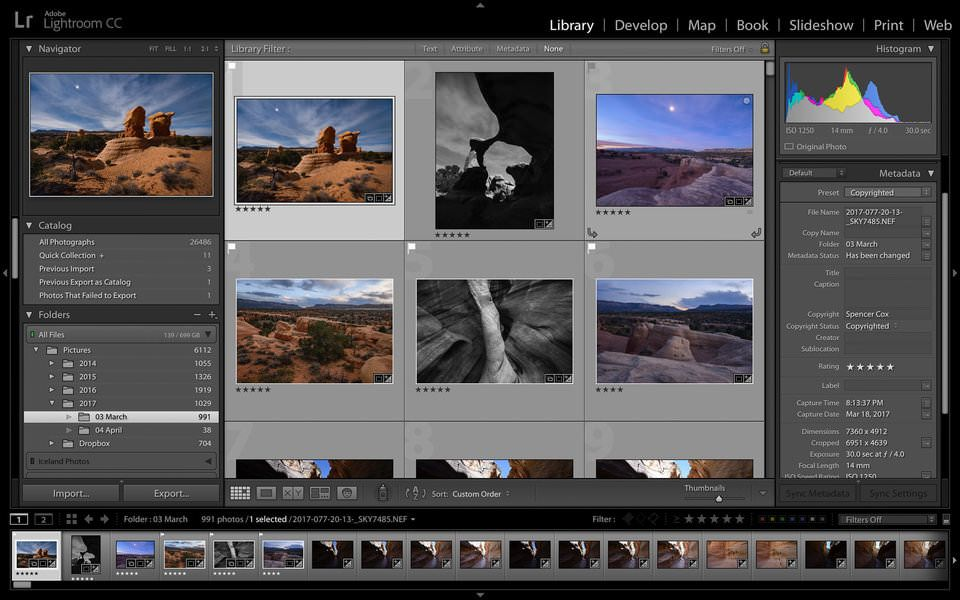 Lightroom-Módulo-Filmstrip