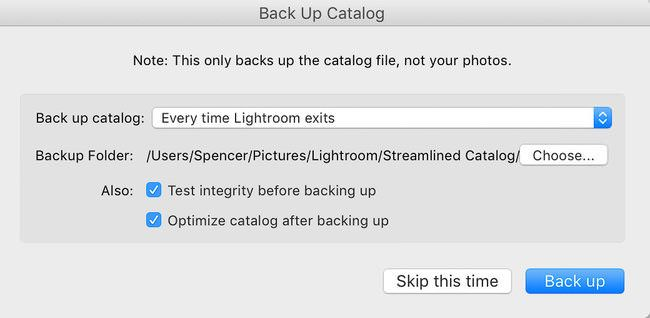 backup catalogo lightroom