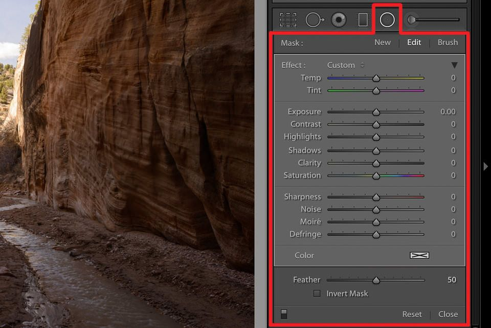 lightroom filtro radial